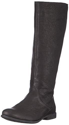 THINK! Damen AGRAT_3-000111 chromfrei gegerbte, nachhaltige Kniehohe Stiefel, 0000 Schwarz