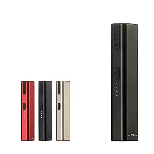 Sigaretta Elettronica, UWOO Yk Dispositivo Per Riscaldamento Nessuna Combustione, Preriscaldamento Per 15 Second, carica 900mah type-c(Nero)