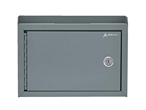 "AdirOffice Wall Mountable Steel Suggestion Box with Lock - Donation Box - Collection Box - Ballot Box - Key Drop Box, 9.75"" x 7"" x 3"""