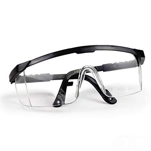 Underleaf Schutzbrille, Brille Persönliche Schutzausrüstung Transparente Schutzbrille über Brille für Arbeit, BAU, Heimwerken, Heimprojekte, Labor, Chemie, Outdoor-Sport