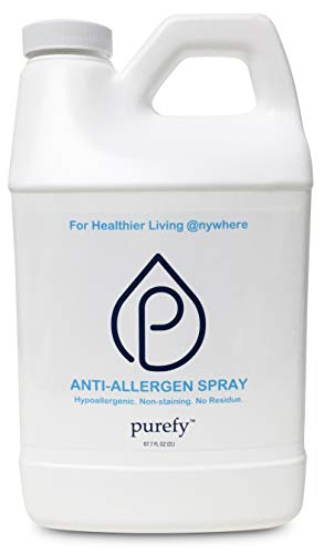 PUREFY Anti-Allergen Spray (68oz Refill), Hypoallergenic. Eliminate Allergens and Odor. Baby Safe. Unscented. No Residue. Asthma & Allergy Safe for Babies & Pets. Allergen Reducer for Healthier Life!
