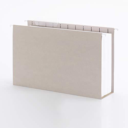 Smead Tuff Hanging Box Bottom Folder with Easy Slide Tab, 4' Expansion, 1/3-cut Sliding Tab, Legal Size, Steel Gray, 18 Per Box (64342)