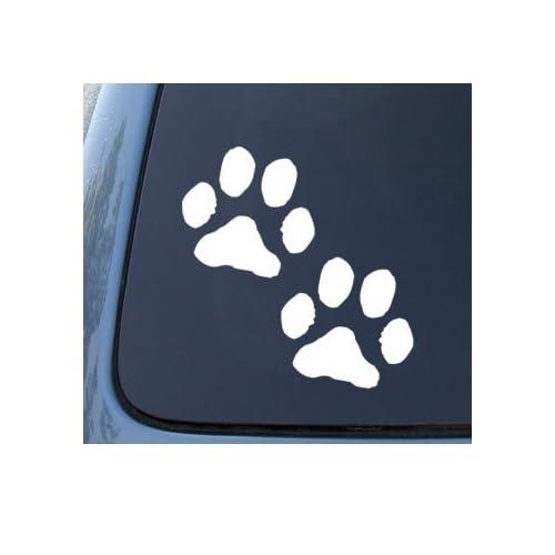 Missouri State Shaped Paw Print Sticker Die Cut Decal Dog Cat Pet Puppy