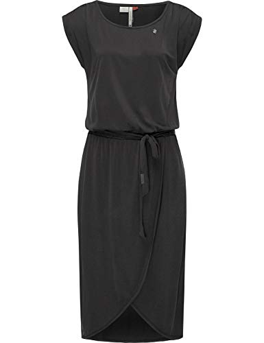 Ragwear Damen Kleid Dress Sommerkleid Strandkleid Jerseykleid Freizeitkleid Ethany Schwarz Gr. M