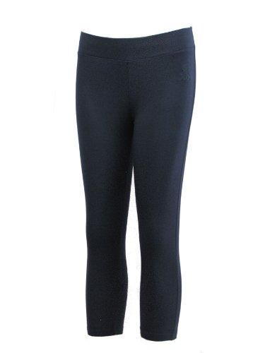 Brody & Co. Leggings da donna Crop Capri pantaloni 3/4 palestra pedale pushers danza spandex cropped allenamento Marina Militare 40-42