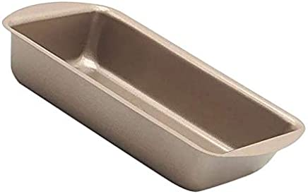 8.5 Inch Carbon Steel Baking Pan, Nonstick Rectangle Cookie Sheet Bakeware Roasting Tray, Champagne gold