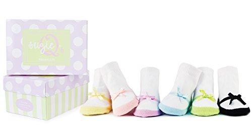 Suzie Q Trumpette - Calcetines de bebé, efecto zapato