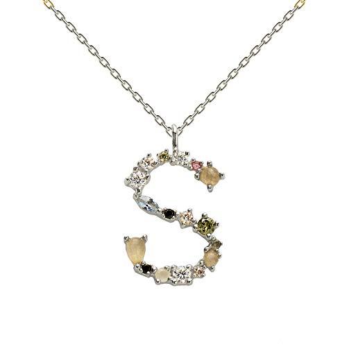 P D Paola Damen-Kette 925er Silber Labradorit One Size S 32012149