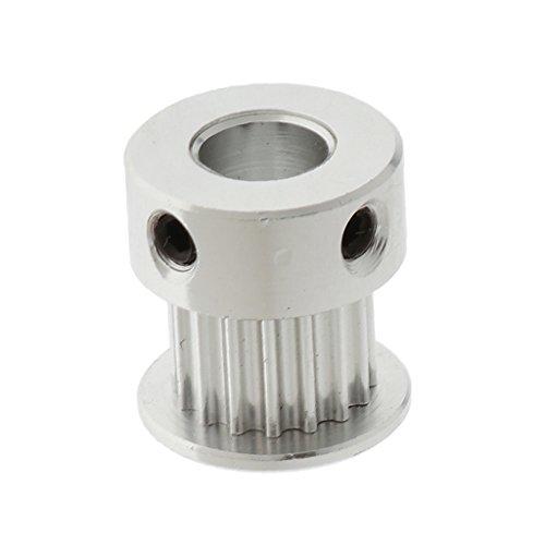 Baoblaze 3mm Bohrung Riemenscheibe Edelstahl-Zahnrad 3D-drucker Zubehör Extruder Pulley Riemenrad für Zahnriemen - Silber 6mm