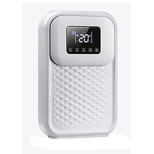 Deumidificatore Portatile Adatto per Uno Spazio di 5-30 mq Schermo LED Telecomando Intelligente (Color : White)