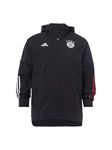 adidas Herren 20/21 FC Bayern All Weather Jacket Jacke, Black/Fcbtru, M
