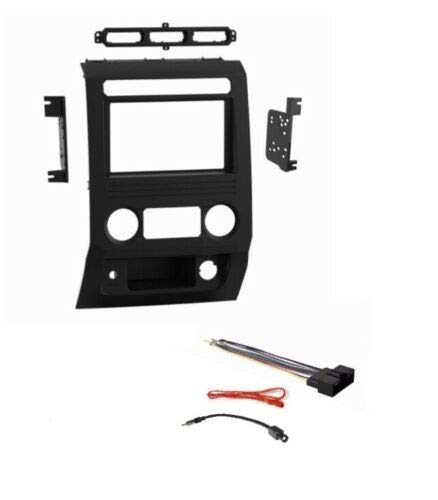 Car Stereo Dash Mount Kit Wire Harness and Antenna Adapter Combo to Install a Double Din Size Aftermarket Radio for Some 2017-2019 Ford F250 F350 F450 F550 - Only Some Trims- See Below