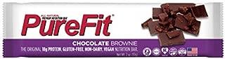 PureFit Chocolate Brownie Premium Nutrition Bars, 15 Count | 18G Protein, Performance Enhancement & Energy Bar – Gluten Free, Dairy Free, Low Carb, Vegan