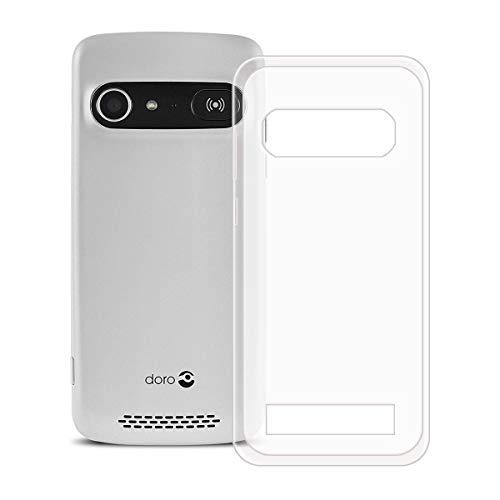 "YZKJ Coque pour Doro 8040/8042 Soft Silicone TPU Souple Case Bumper Housse Etui de Protection Premium Semi-Transparent Cover pour Doro 8040/8042 (5.0"")"