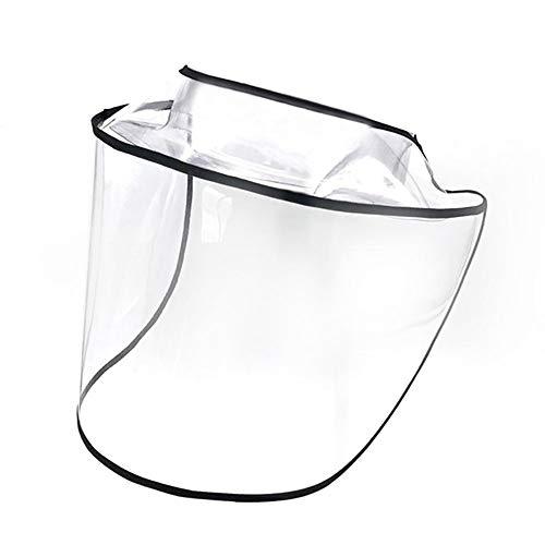 Protector Facial extraíble de Seguridad, Protector Facial Protector Anti-Saliva Transparente Completo, Visera Protectora antiniebla Ajustable, Cubierta Transparente Protectora para Gorro