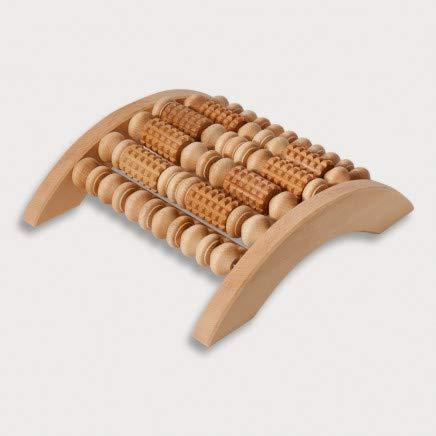 HOFMEISTER® Massage-Gerät aus Buchen-Holz, gegen Verspannungen & Schmerzen, Wellness & Entspannung für die Füße, Naturprodukt aus Europa, Fuss-Massage-Roller, 28 cm