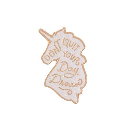 chenlong Colección de Dibujos Animados Pines esmaltados Caballo arcoíris Origami Juego Broche Insignia Camisa Pin de Solapa Lindo Regalo de joyería para niños Unicornio Blanco