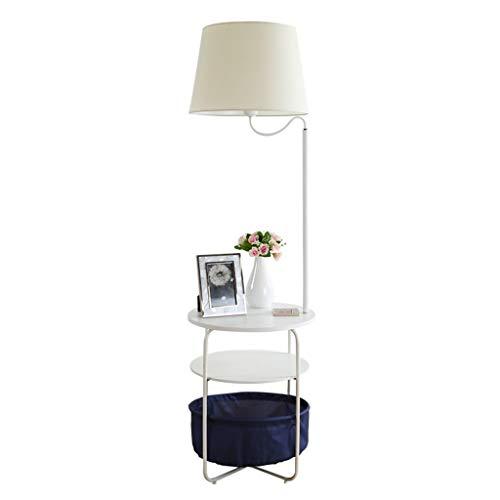 Lampes de chevet Lampadaire Rack Lampadaire Salon Canapé Chambre Nordic Simple Moderne Personnalité Table Basse Café Lampe De Table Vertical (Color : Blanc, Size : 42 * 146cm)