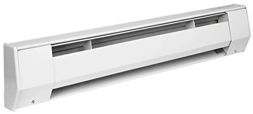 "KING 2K2405BW-BK K Series Baseboard Heater w/Backwire Junction Box, 27"" / 500W / 240V, White"