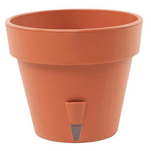 Selbstbewässerungspflanzentopf mit Wasserstandsanzeiger, für den Innen- und Außenbereich, Latina (9.1 L, Terracotta)