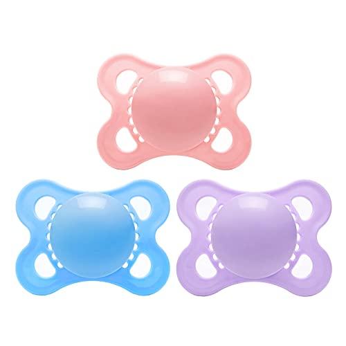 LittleForBig Großer Saugerschild Schnuller der Generation-3 in Erwachsenengröße 3 Paci Pack- Rosa/Lila/Blau