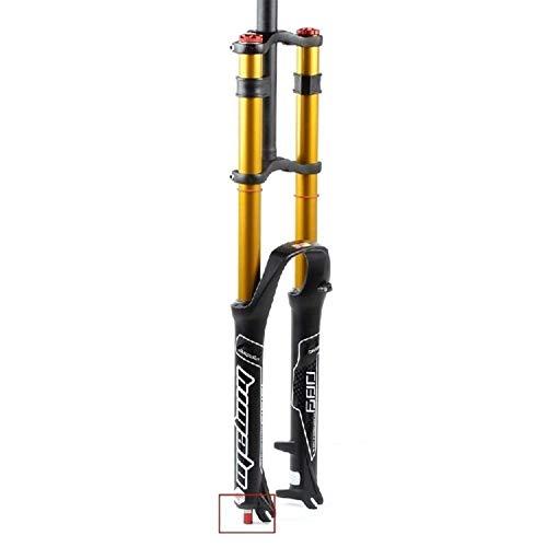 pianaiBB Horquilla De Bicicleta MTB 26 27.5 29 Pulgadas Control De Hombro Doble Suspensión Cuesta Abajo Presión De Aire Dh Tubo Recto Amortiguador De Bicicleta Ultraligero Ajuste D