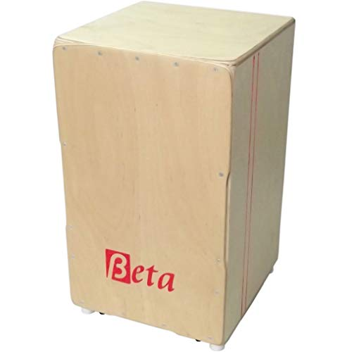 Cajón flamenco Beta Élite (color natural) - Caja flamenca de abedul profesional y afinable