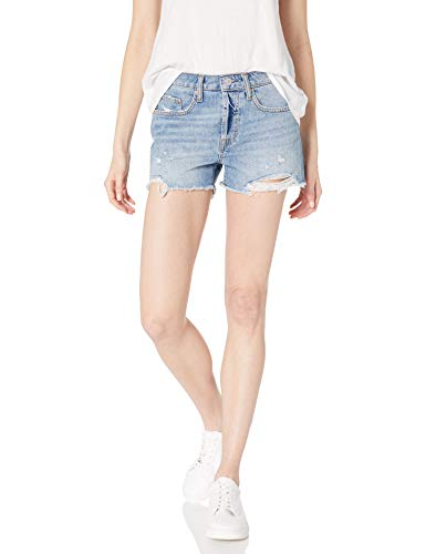 The Drop Women's Sasha Vintage Mid-Rise Button-Fly Cutoff Denim Short