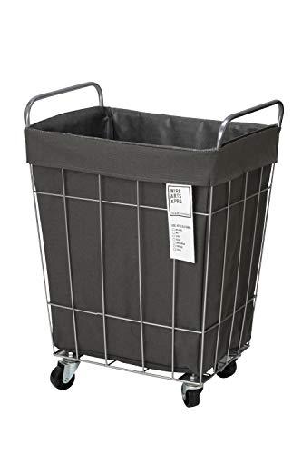 BRID laundry SQUARE BASKET WITH CASTER [ダークグレー / 45L キャスター付き] ランドリー スクエア バスケット