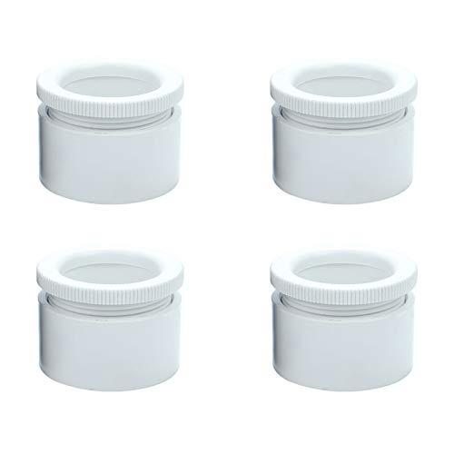 4 Pies de Muebles Ajustable Patas de Muebles 3cm Muebles Piernas ABS Plástico Patas de Mesa Sofá Cama Sillas Gabinete TV(white)
