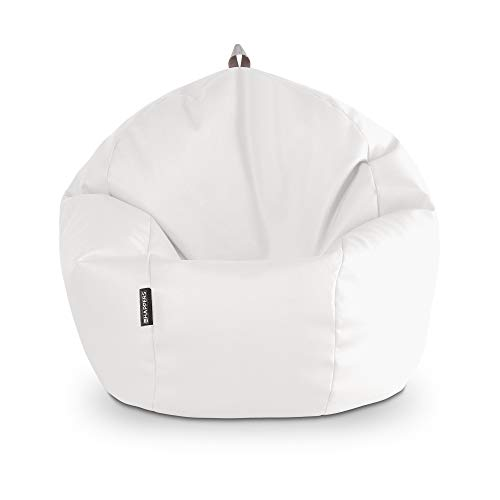 HAPPERS Puff Pelota Polipiel Interior Blanco