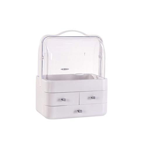 Boîte de Rangement cosmétique antipoussière Coiffeuse de Bureau Type de tiroir Support de Soin de la Peau FANJIANI (Color : Gray, Size : Extra Large)
