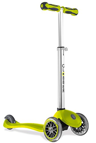 Globber 3 Wheel Adjustable Height Scooter (Green)