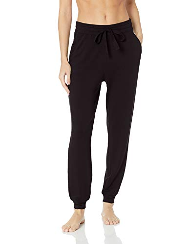 Amazon Brand - Mae Women's Standard Supersoft French Terry Lounge Jogger, black, X-Small