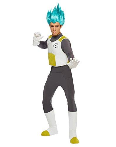 Spirit Halloween Adult Vegeta Costume - Dragon Ball Z Resurrection F,White/Grey,S/ M