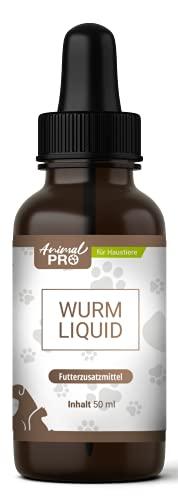 Animal Pro - Wurm Liquid für Hunde, Katzen, Nager - Entwurmungsmittel für Haustiere - natürliche Wurmkur Katze und Hund vor, während und nach Befall - 50 ml Inhalt