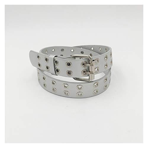 FUBINMY Ladies Belt Fashion Children Kids Solid Color Belt Unisex Hollow Out Small Holes Belts Boys Girls Faux Pants Belt Adjustable (Belt Length : 90cm, Color : Silver)