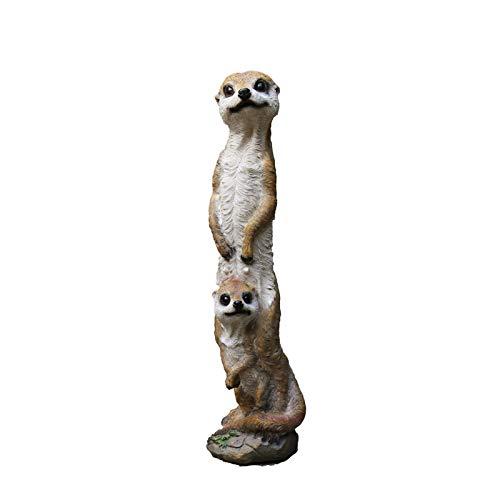 Animal Esculturas decoración del jardín figura divertida familia Meerkat Grupo moldeado for el patio trasero pórtico casero Patio Césped Decoración Decoración de jardín Art Garden Sculpture Decoraci