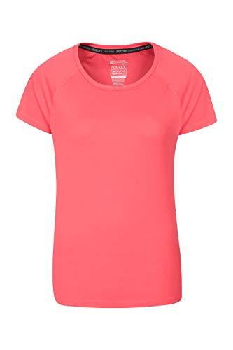 Mountain Warehouse Camiseta Endurance para Mujer - Top de Verano IsoCool para Mujer, Camiseta con protección Solar UV UPF30+ - para Correr, Viajar e IR al Gimnasio Coral 50