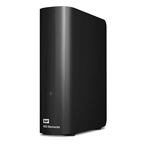 WD Elements Desktop externe Festplatte 12 TB (kompatibel mit USB 3.0 und USB 2.0, hohe Übertragungsraten, stoßfest, robustes Gehäuse) schwarz