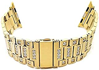 Bracelet Stainless with crystals 38 - 40 mm For Apple Watch Gold Color