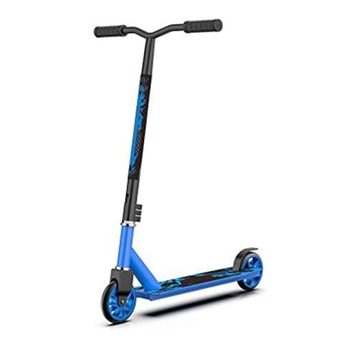 qwert Patinetes Pro Scooter Complete Trick Scooter Freestyle Aluminio Stunt Scooters para Niños De 8 Años En Adelante, Niños, Niñas, Adolescentes Kick Scooter De Alto Rendimiento, Azul