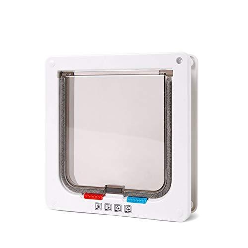 Maran Abschließbarer Katzenklappen-Montageadapter für Glas/Fenster/Holztür/PVC-Tür/Wand, 4-Wege-Verriegelung Katzentür mit Türauskleidung bis 50 mm