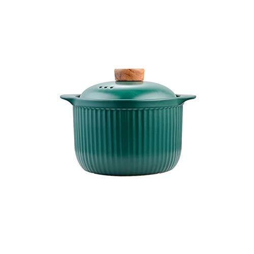 YLJYJ Cazuela de cerámica con Tapa Olla de Barro Cacerola de Gran Capacidad Resistente a Altas temperaturas Olla de Barro Olla de Sopa (Olla Caliente)