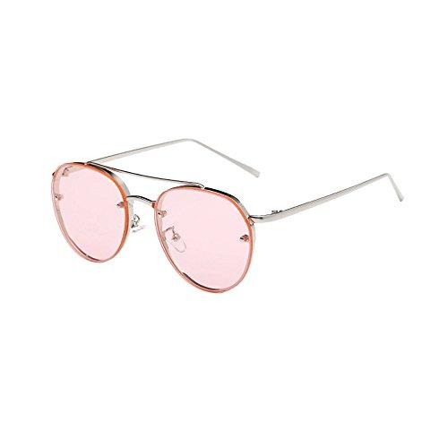 SUCES Sonnenbrille Damen mode Rund Metallrahmen Sonnenbrille Marke Classic Tone Mirr Sonnenbrille für Damen Metallrahmen Shades Brillen Katzenauge Metall Rand Rahmen sunglasses woman