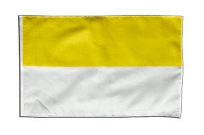 Flagge / Fahne Streifen gelb-weiß + gratis Sticker, Flaggenfritze®