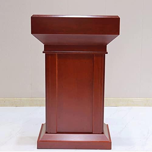 CHICAI Mesa de recepción de Oficina for Sala de reuniones Madera Podium Profesor Discurso Podium Tabla Simple Modern Cashier Almacenamiento Gabinetes con cajón