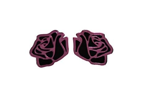 Pendientes de Mujer Rosa Pink Regallo para Ella Pendientes Largos Plata de Ley 925 Navidad Niña