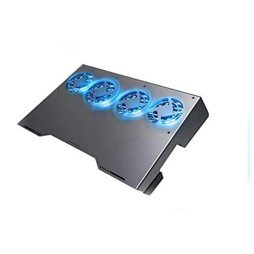 haozai Base De Refrigeración para Portátil,Panel De Aleación De Aluminio,Ajuste De Ventilador De Velocidad Variable,Soporte USB Portátil para Computadora Portáti