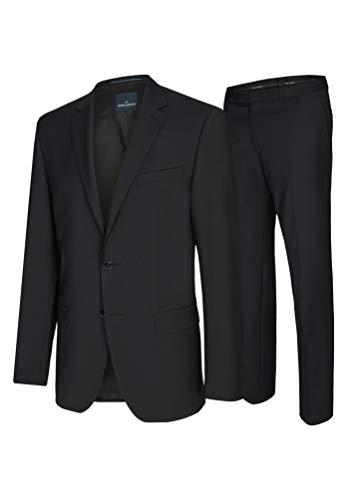 Daniel Hechter - Modern Fit - Herren Baukasten Anzug in Blau oder Schwarz (7932), Größe:64, Farbe:Schwarz (90)